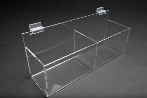 """Acrylic Gridwall Double Bin 15"""" 2"""