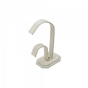 Table Top Earring Display White faux leather: 243L-WH