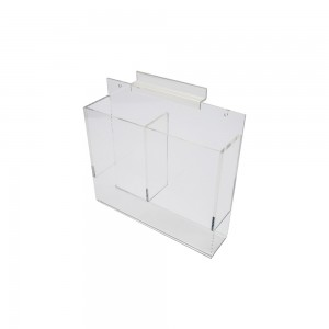 Acrylic Slatwall Double Brochure Holder With Gaps 9""