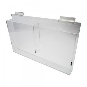 Acrylic Slatwall Double Literature Holder With Gaps 18""