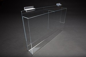 Acrylic Slatwall Double Literature Holder With Gaps 2