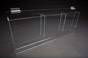 "Brochure Holder 8"" - 1/2"" x 11"" Clear 3"