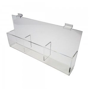 "Acrylic Slatwall CD/DVD Display Tray 19""x5""x3"""