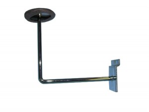 Slatwall Hat Bracket Chrome with Foam Pad