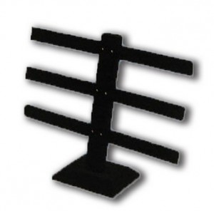 Table Top Earring Display Black velvet 3 bar: 252-3-BK