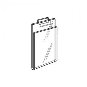"Acrylic Slatwall / Gridwall Sign Holder 5.5"" x 7"" 3"