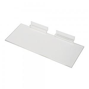 "Acrylic Slatwall Shelf 4""x10"""