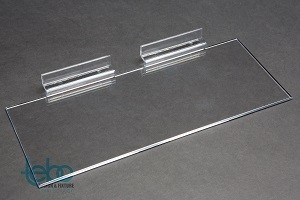 "Acrylic Slatwall Shelf 4""x10"" 3"