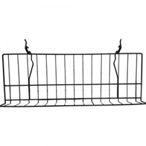 "Slatgrid Black Metal Angled Shelf With Lip 23"" 2"