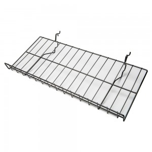 Slatgrid Black Metal Angled Shelf With Lip 23""