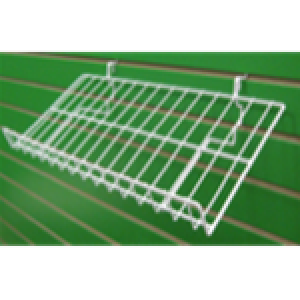 Assorted White Metal Angled Shelves With Lip  3