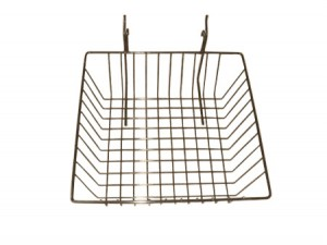Grid Slatwall Assorted Basket Chrome