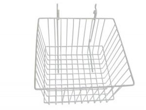 "Grid/Slatwall Basket 12"" x 12"" x 8"" White: BSK15-W"