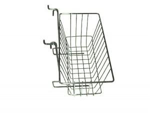 "Grid Slatwall Basket 12"" x 6"" x 6"" Chrome"