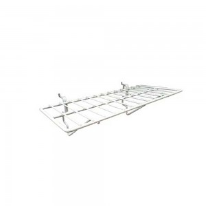 "Slatgrid White Metal Shelf 14"" x 6"""