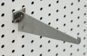 "Metal Pegboard Bracket 12"" 2"
