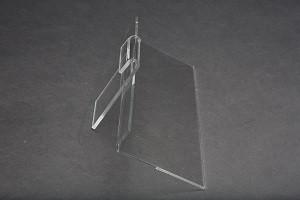 """Clear acrylic economy gridwall shelf. 9""""W x 4""""D 3"""