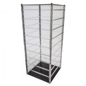 "Rotating Acrylic Earring Display Holds 144 2"" Cards"