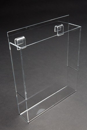"Acrylic Gridwall Literature Holder With Gaps 11"" 2"