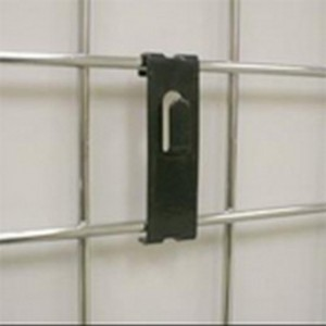 "Black Metal Gridwall Picture Hook 3.5"" 2"