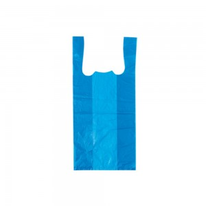 "Plastic T-Shirt Bags 12"" Blue"