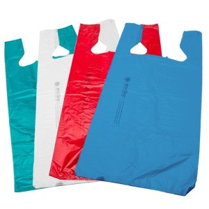 "Plastic T-Shirt Bags 12"" Pack of 1000 Multiple Colors Available"