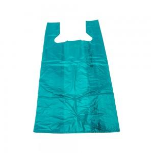 "Plastic T-Shirt Bags 12"" Teal"