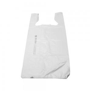 """Plastic White T-Shirt Bags 12"""""""