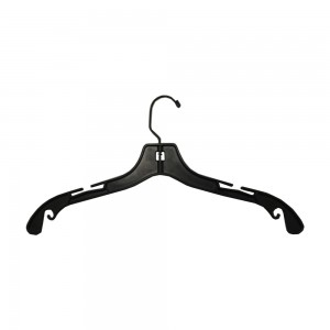 "Heavy Duty Plastic Hangers 17"" Gloss Black"