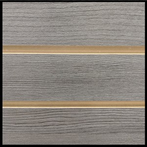 MDF Textured Slatwall Panel 4' x 8' Pewter Pine Finish With TFL 1