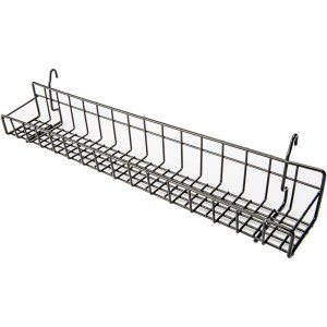 Black Metal Gridwall Tray 23""