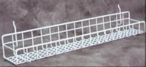 "Metal Slatwall Tray 23"" White: 5127-24W"