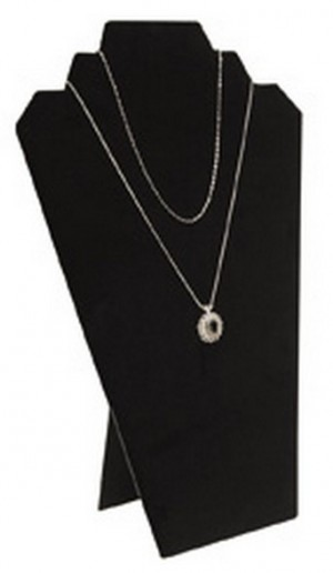 "Black Velvet Necklace Easel Display 12"" 2"