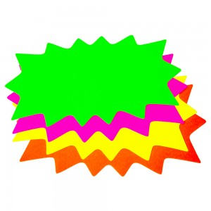 100 Fluorescent Cards 11""