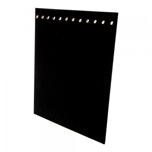 Black Velvet Necklace Display Easel 12 Hooks