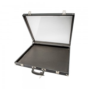 Black Acrylic-Sided Traveling Case 813