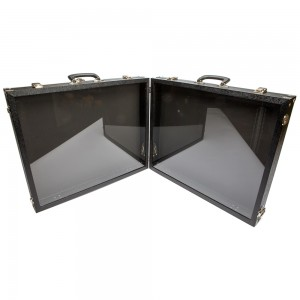 Double Black Acrylic-Sided Traveling Case