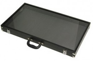 "Black Acrylic-Sided Traveling Case 30"" 2"