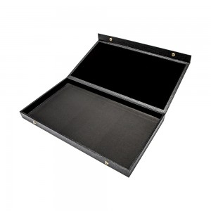 Black Faux Leather Jewelry Case 14 3/4""