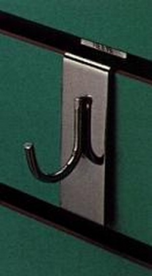 "Metal Slatwall Curved Hook 1"" 3"