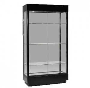 "Tower Showcase 41"" x 18"" x74"" Black"
