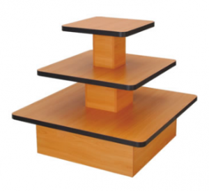 Black 3-Tier Table