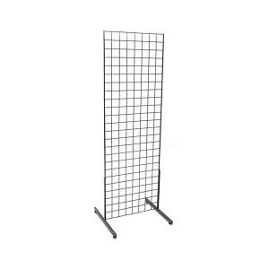 Gridwall Complete Free-Standing Floor Fixture. Black 2' x 4 '