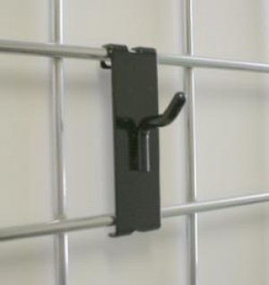 "GRIDWALL HOOK 1"" BLACK"