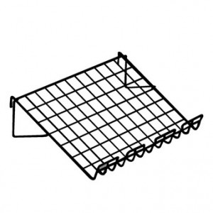"Grid Shelf Slopping 14"" x 22.5"" Black 1"