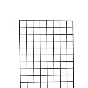 Grid Wall Set of 3 Panels 2' x 5' Black
