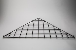Grid Triangle Shelf Black: BLKS-90 2