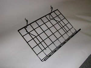 "Grid Shelf 15"" x 24"" Black Slant: BLKS-9"