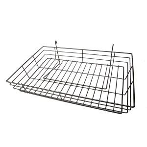 "Grid 15"" x 24"" Black Basket"