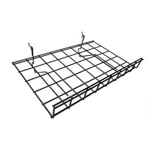 "Grid Shelf 15"" x 24"" Black Slant: BLKS-9"